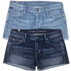 2 PAIRS Citizens of Humanity Denim Shorts Bundle